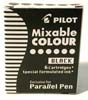 6 cartouches Parallel Pen, noir / 6 cart. black